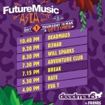 Future Music Festival Asia 2014 Time Set