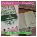 [GIVEAWAY] – Heineken Journal Notebook