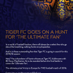 Tiger FC presents The Ultimate Fan 2015/16