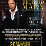Richard Marx The Solo Tour – Live in Kuala Lumpur