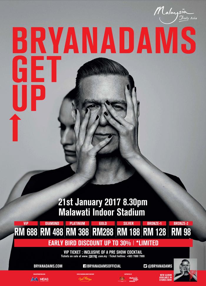 Bryan Adams - The Get Up Tour (Live in Kuala Lumpur)
